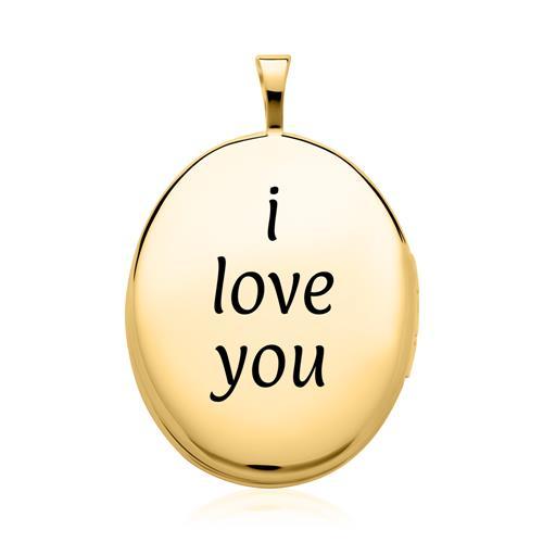 Ovales Medaillon aus 585er Gold gravierbar