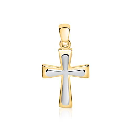 Kreuzanhänger aus 375er Gold