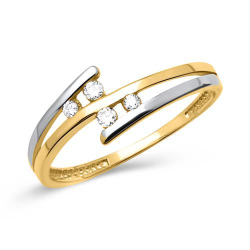 Ring aus 333er Gelbgold Zirkonia
