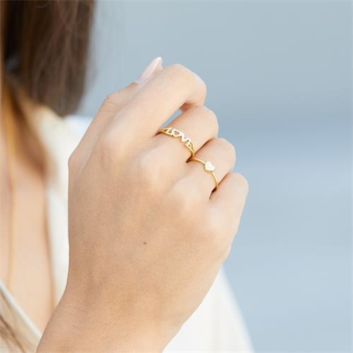 Ring Love-Schriftzug 333er Gold