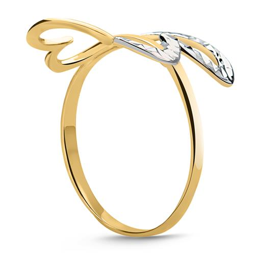 333er Gold Ring zwei verschlungene Herzen