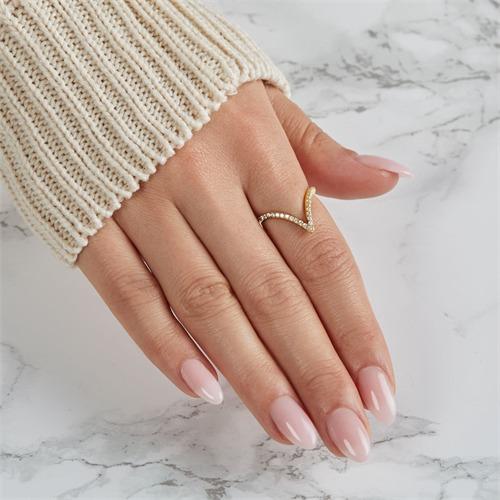 333er Gold Ring mit weißen Zirkoniabesatz