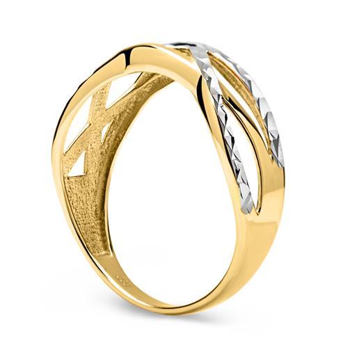 333er Gelb- Weißgold Ring verschlungen