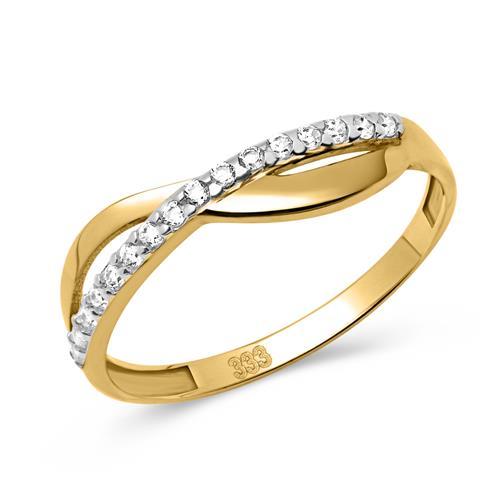 333er Gold Ring mit Zirkonia Details