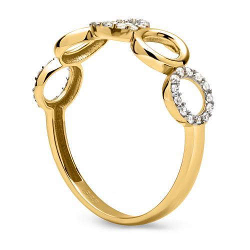 Bicolor 333er Gold Ring Zirkoniabesatz