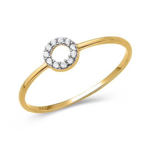 Artikel klicken und genauer betrachten! - Ring aus 333er Gold mit Steinbesatz | im Online Shop kaufen