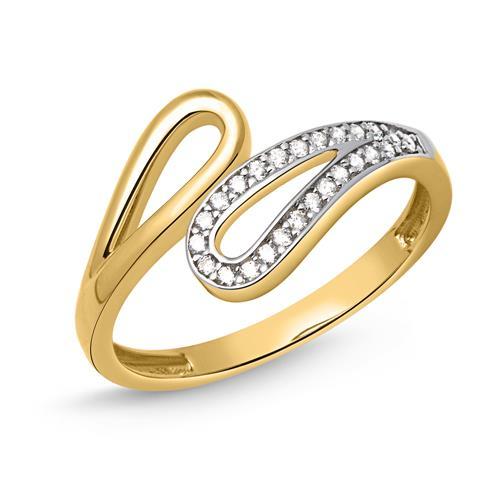 Ring 333er Gold Schlaufen mit Zirkonia