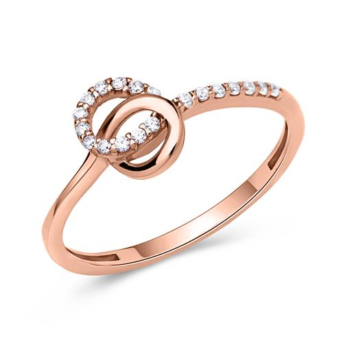 Schicker Ring 333er Gold roségold Kreise