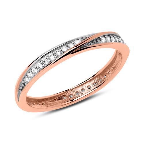 Ring aus 333er Roségold mit Zirkonia GR0151