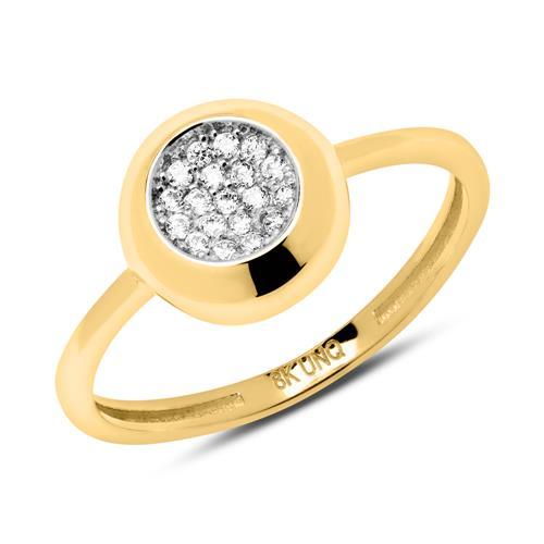 8 karätiger Gold Ring mit Zirkoniasteinen GR0152