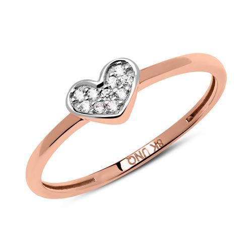 Ring Herz aus 333er Roségold mit Zirkonia GR0155
