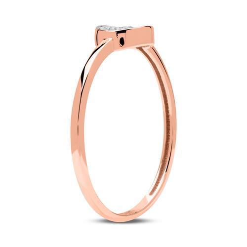 333er Roségold Ring Kreis Zirkonia