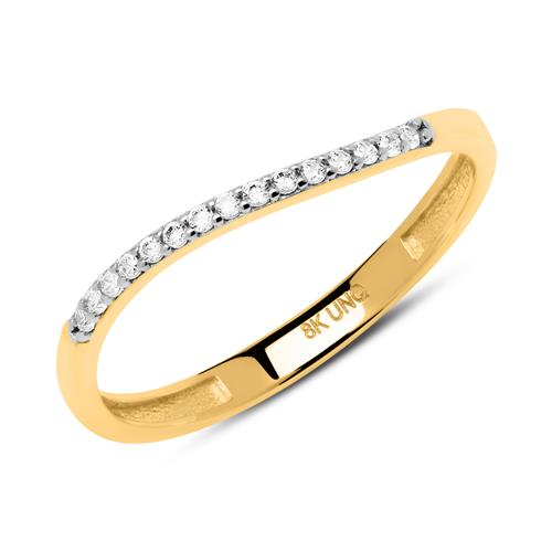 Damen Ring aus 333er Gold mit Zirkoniasteinen GR0161
