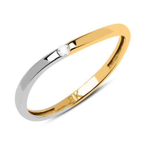 Ring aus 333er Gold bicolor mit Zirkonia GR0162