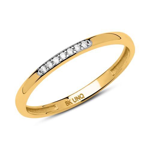 Filigraner Ring aus 333er Gold mit Zirkonia