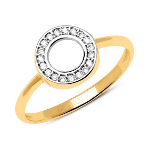 333er Gold Ring Kreis mit Zirkonia GR0170