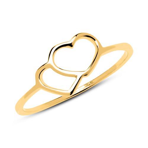Filigraner Herz Ring aus 333er Gold GR0172