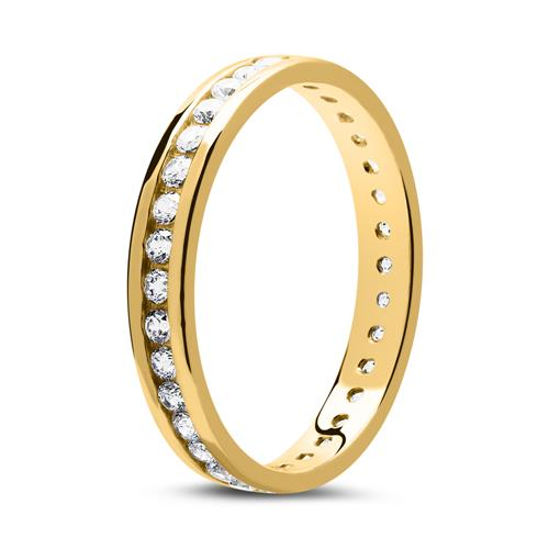 Eternity-Ring aus 8K Gold mit Zirkoniasteinen