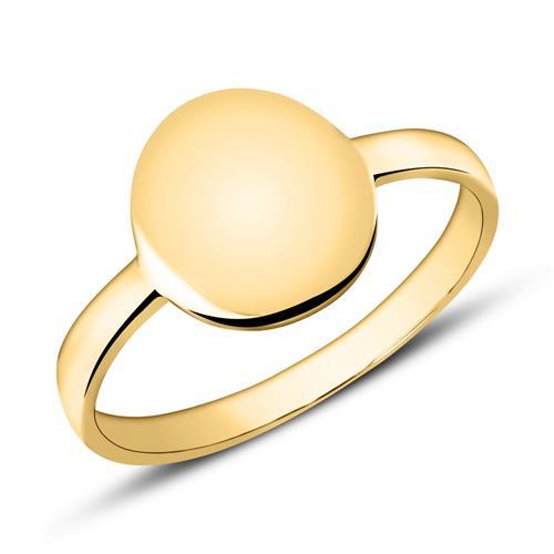 Gravierbarer Ring aus 375er Gold