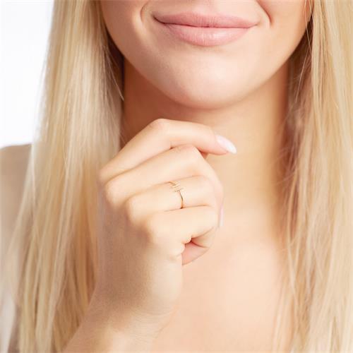 Stäbchen-Ring für Damen aus 375er Gold