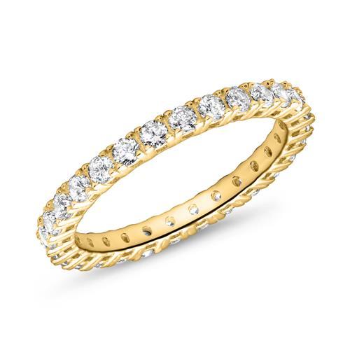 Eternityring für Damen aus 333er Gold mit Zirkonia