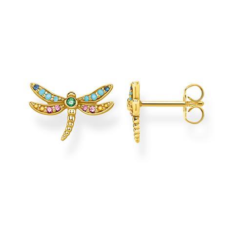 Ohrstecker Libelle aus vergoldetem Sterlingsilber