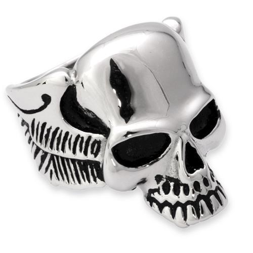 Exklusiver Edelstahl Ring im Totenkopf Design