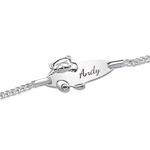 925 Armband Silber mit Bärmuster 16cm