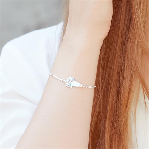 925 Armband Silber Elefantenmuster 16cm