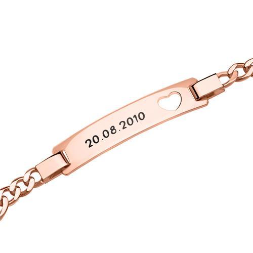 Figaro Herzarmband rosé vergoldet