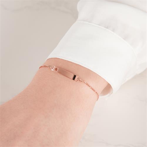 Armband 925er Silber Herz Gravurplatte