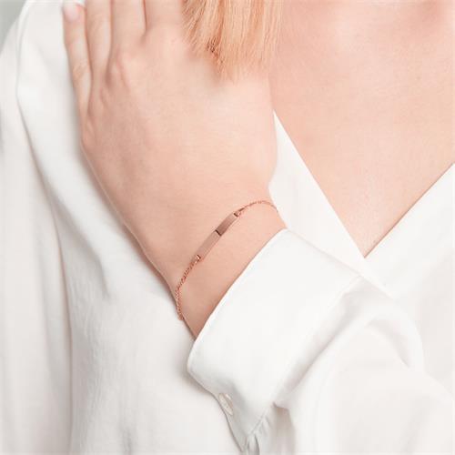 Armband mit Herzanhänger roségold