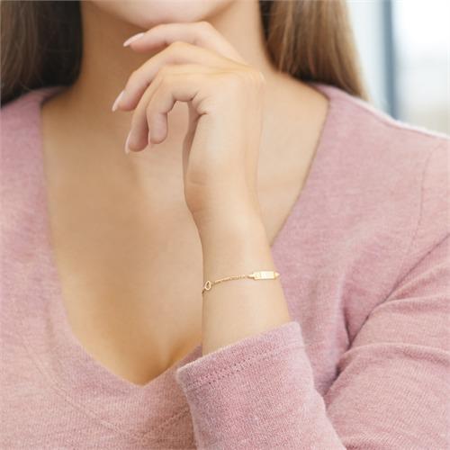 Damenarmband mit Herz Elementen
