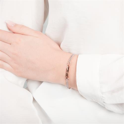 925 rosé Silberarmband Gravur