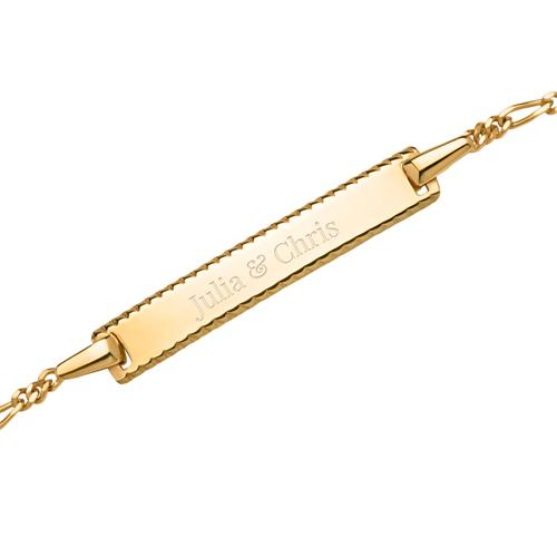 375er Goldarmband polierte Platte