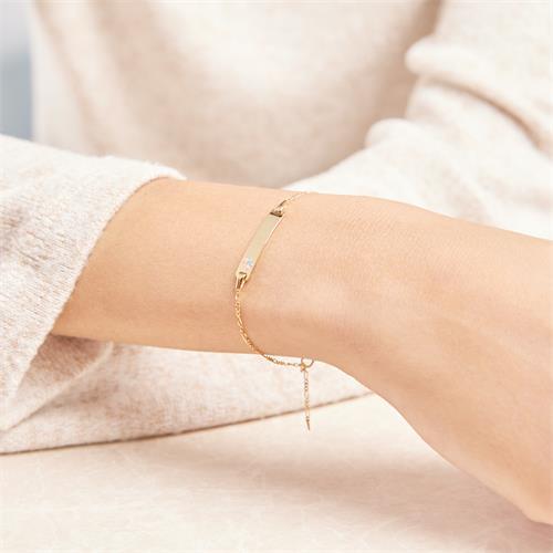 Filigranes 375er Gold Armband Schmetterling