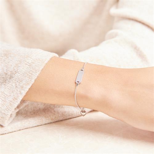 Armband mit Herzmotiv 375er Weißgold