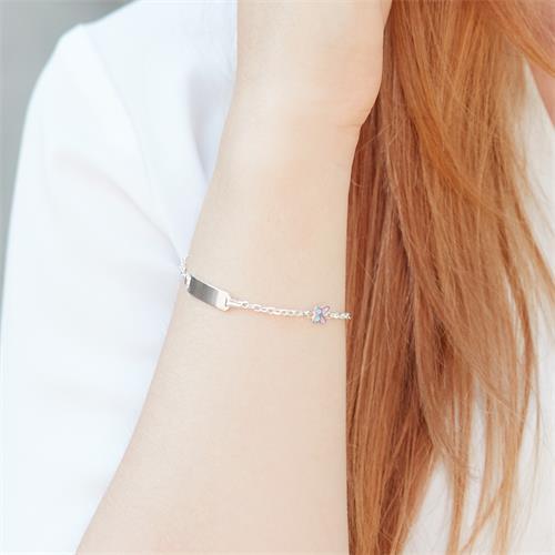 Armband 925er Silber gravierbar Schmetterling