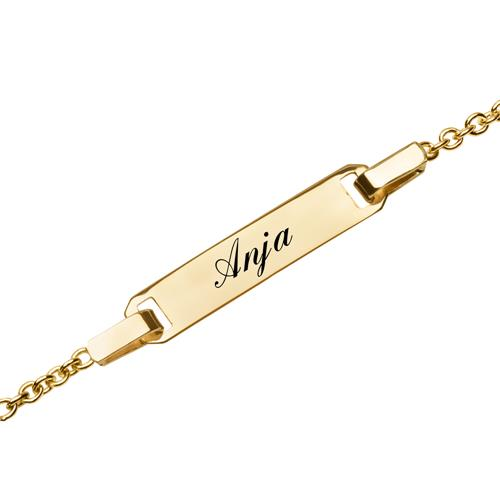 Armband 585er Gold gravierbar Herz