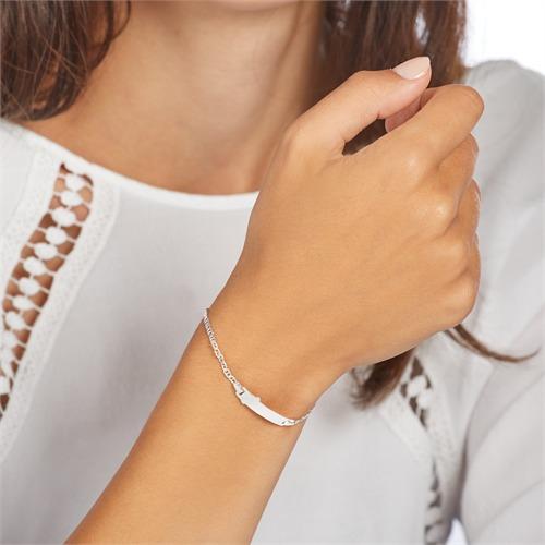 Gravierbares Kinderarmband Fläschchen aus 925er Silber