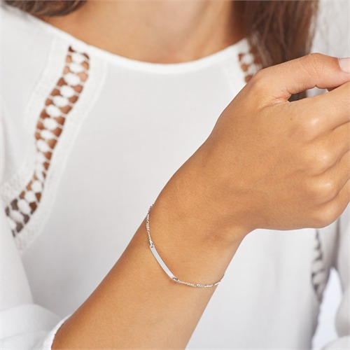 Armband aus 375er Weißgold mit Gravuroption