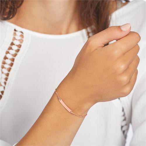 Armband aus 375er Roségold mit Gravurmöglichkeit