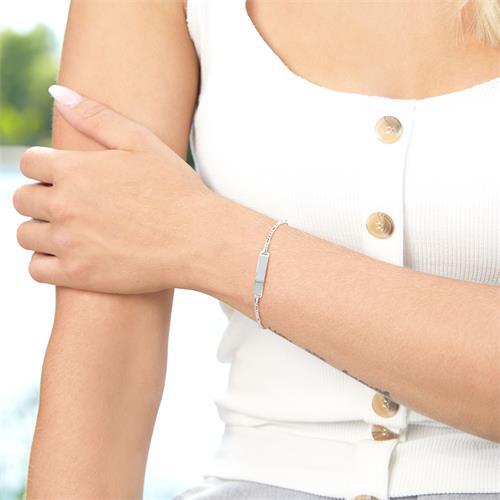 925er Silber Armband Herz mit Engel gravierbar
