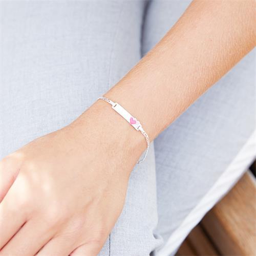 Gravierbares Armband aus 925er Silber mit Herzen