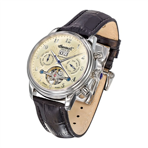 Automatik-Herrenuhr Coffin Ingersoll Leder IN1510CR
