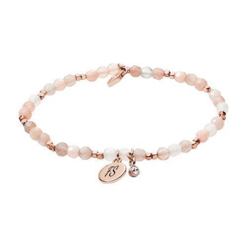 Armband für Damen aus Messing und Mondstein gravierbar