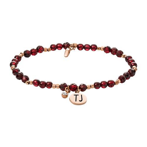 Gravierbares Armband für Damen mit Granat