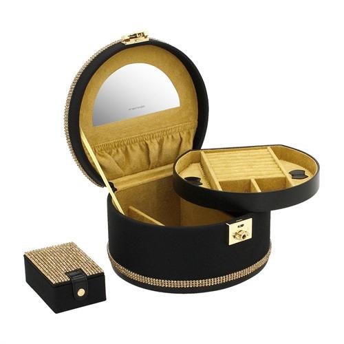 Schmuckkasten Glamour Gold Muschelform Strass