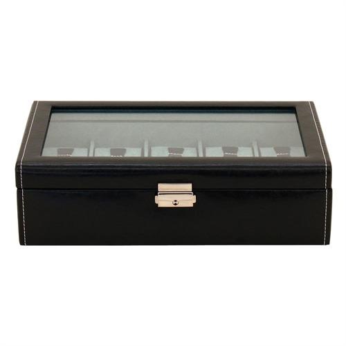 Uhrenbox für 10 Uhren schwarz blau