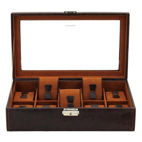 Uhrenbox braun cognac für 10 Uhren